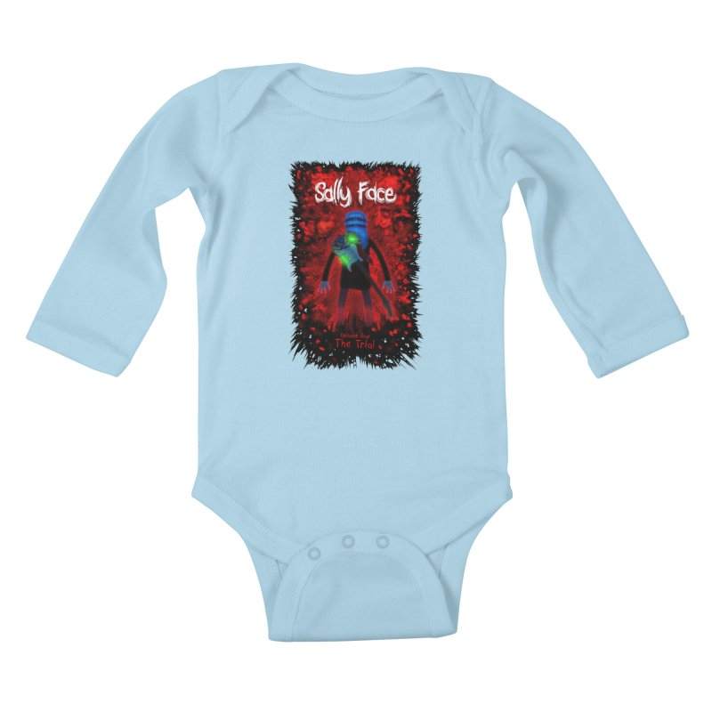 The Trial Kids Baby Longsleeve Bodysuit by Official Sally Face Merch