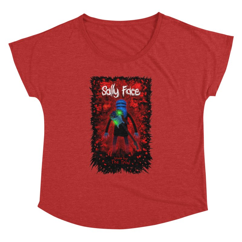 The Trial Women's Dolman Scoop Neck by Official Sally Face Merch