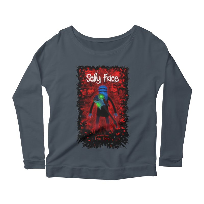 The Trial Women's Scoop Neck Longsleeve T-Shirt by Official Sally Face Merch