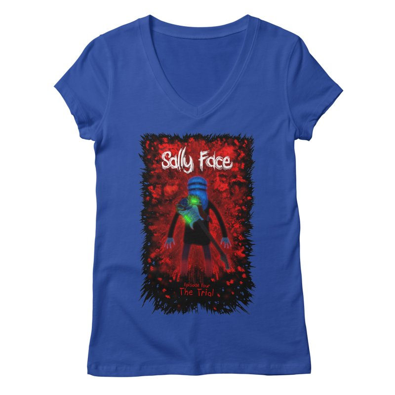 The Trial Women's Regular V-Neck by Official Sally Face Merch
