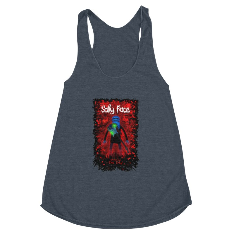 The Trial Women's Racerback Triblend Tank by Official Sally Face Merch
