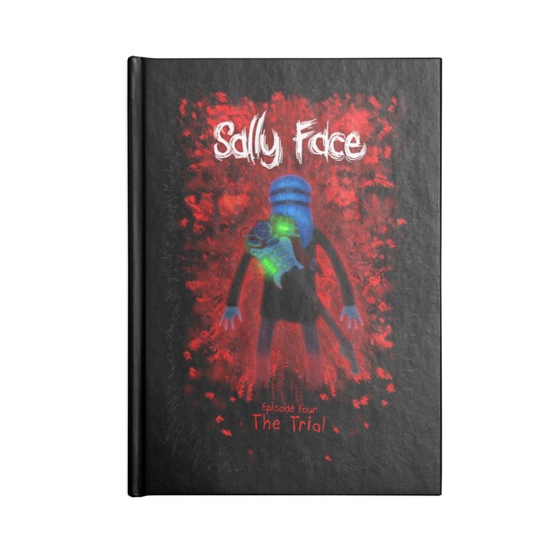 The Trial Accessories Lined Journal Notebook by Official Sally Face Merch