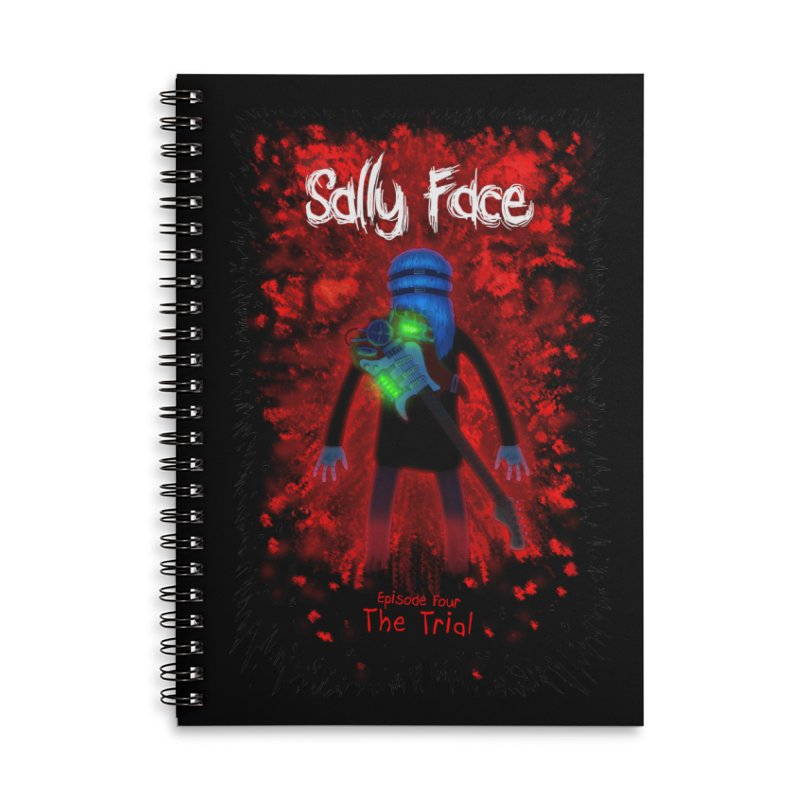 The Trial Accessories Lined Spiral Notebook by Official Sally Face Merch