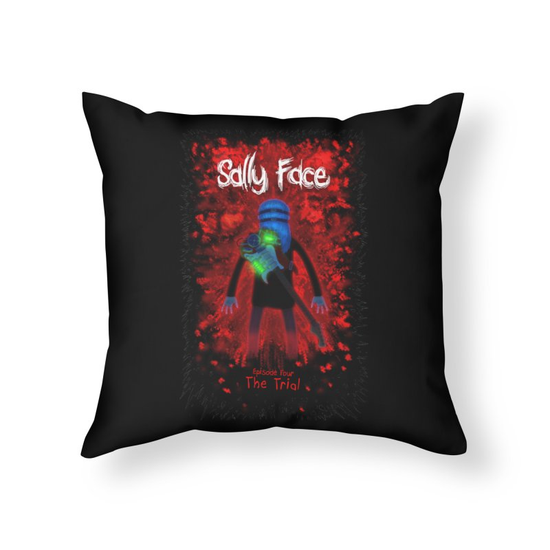 The Trial Home Throw Pillow by Official Sally Face Merch