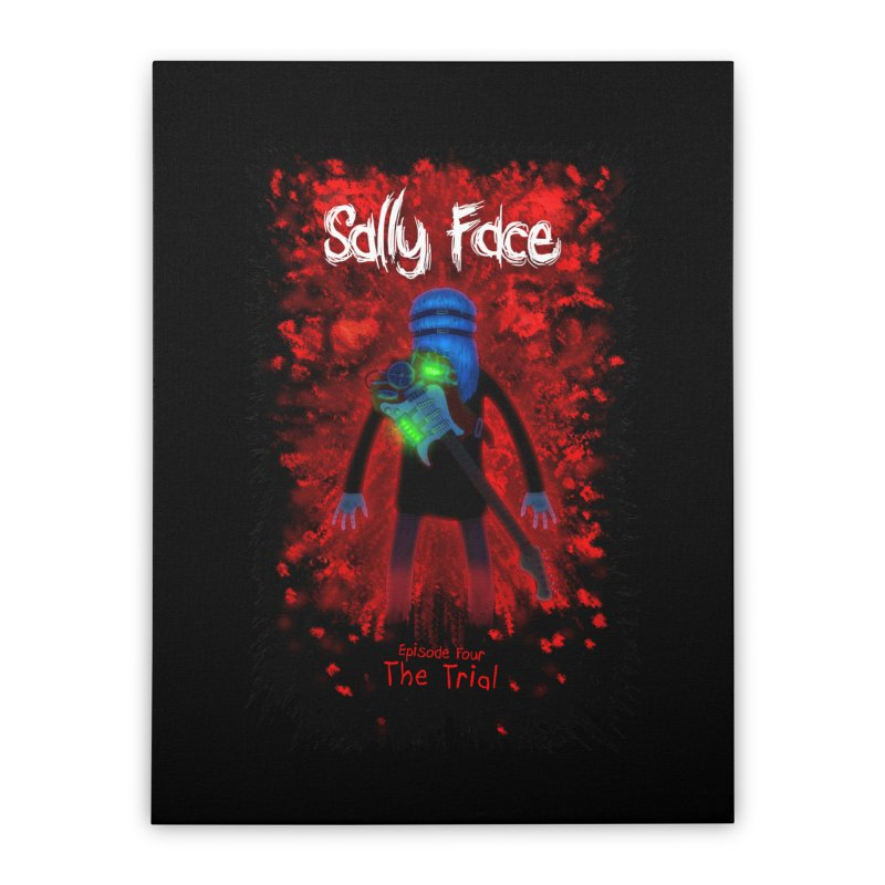 The Trial Home Stretched Canvas by Official Sally Face Merch