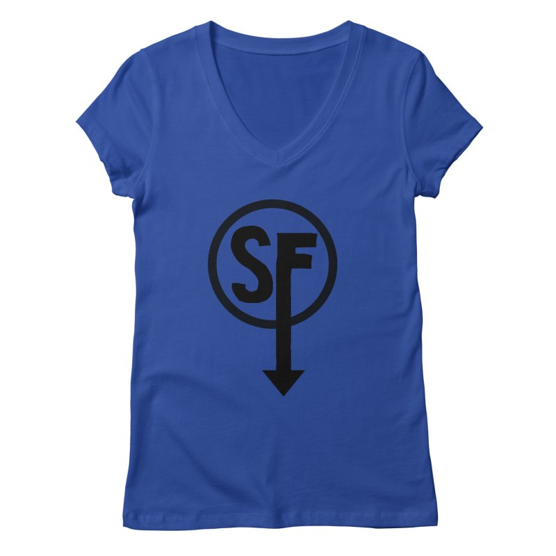 (SF) Larry's Shirt Women's Regular V-Neck by Official Sally Face Merch