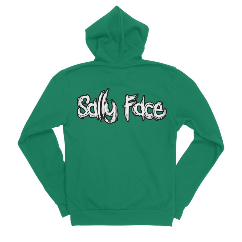 Sally Face Men's Sponge Fleece Zip-Up Hoody by Official Sally Face Merch