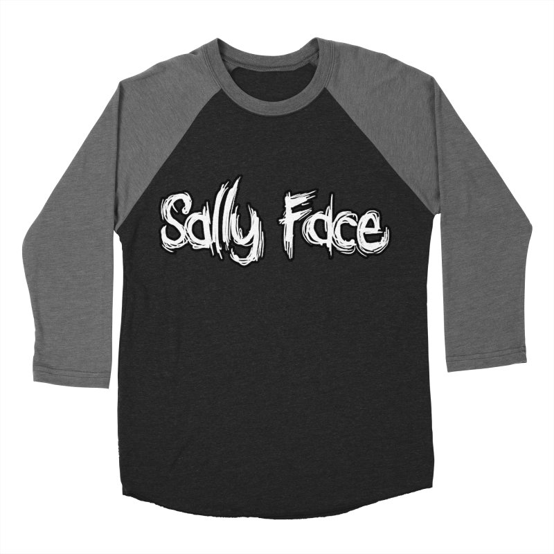 Sally Face in Women's Baseball Triblend Longsleeve T-Shirt Grey Triblend Sleeves by Official Sally Face Merch