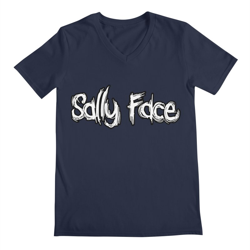 Sally Face Men's Regular V-Neck by Official Sally Face Merch