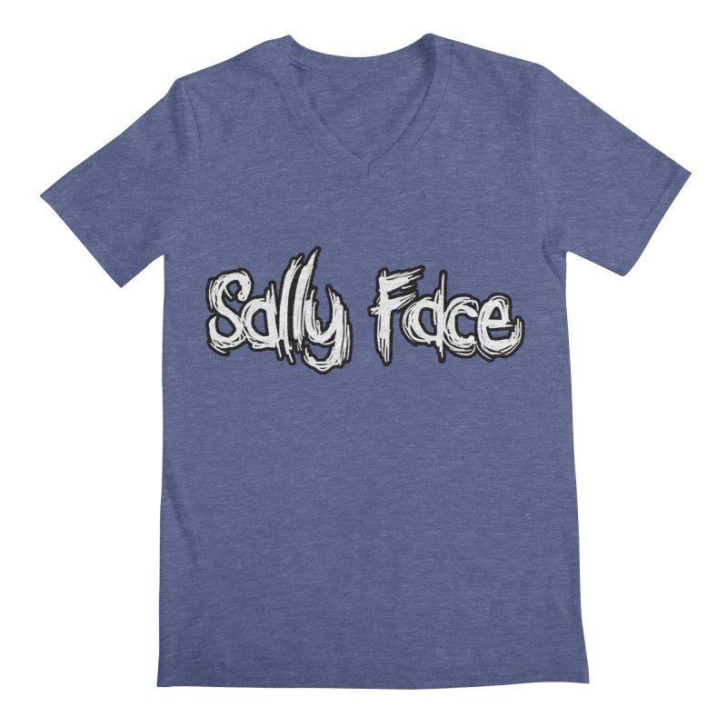 Sally Face Men's Regular V-Neck by Official Sally Face Merch