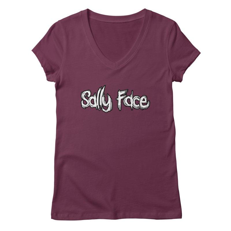 Sally Face Women's Regular V-Neck by Official Sally Face Merch