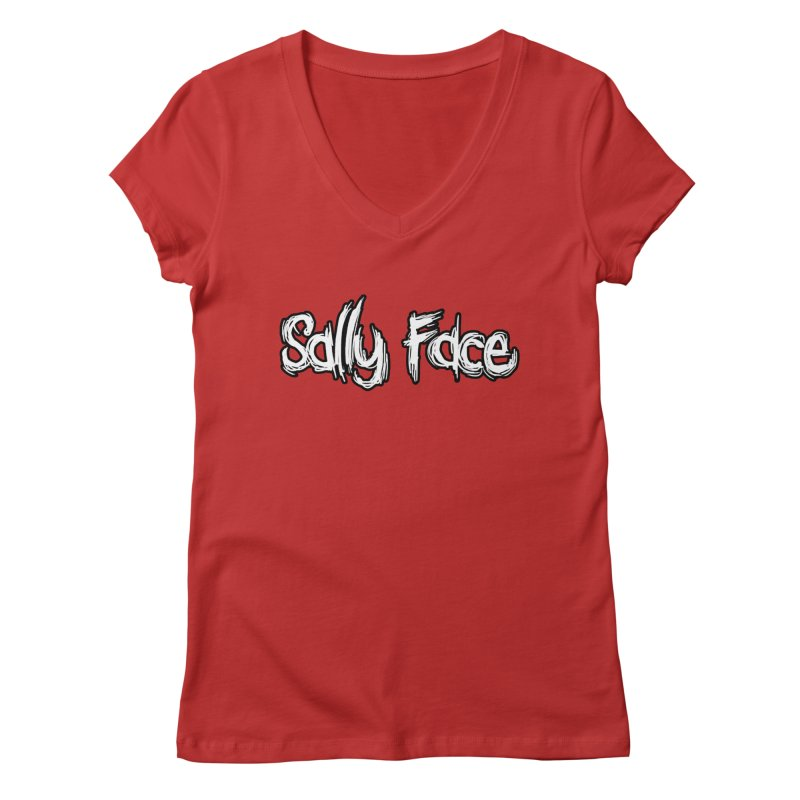 Sally Face Women's Regular V-Neck by Official Sally Face Merch