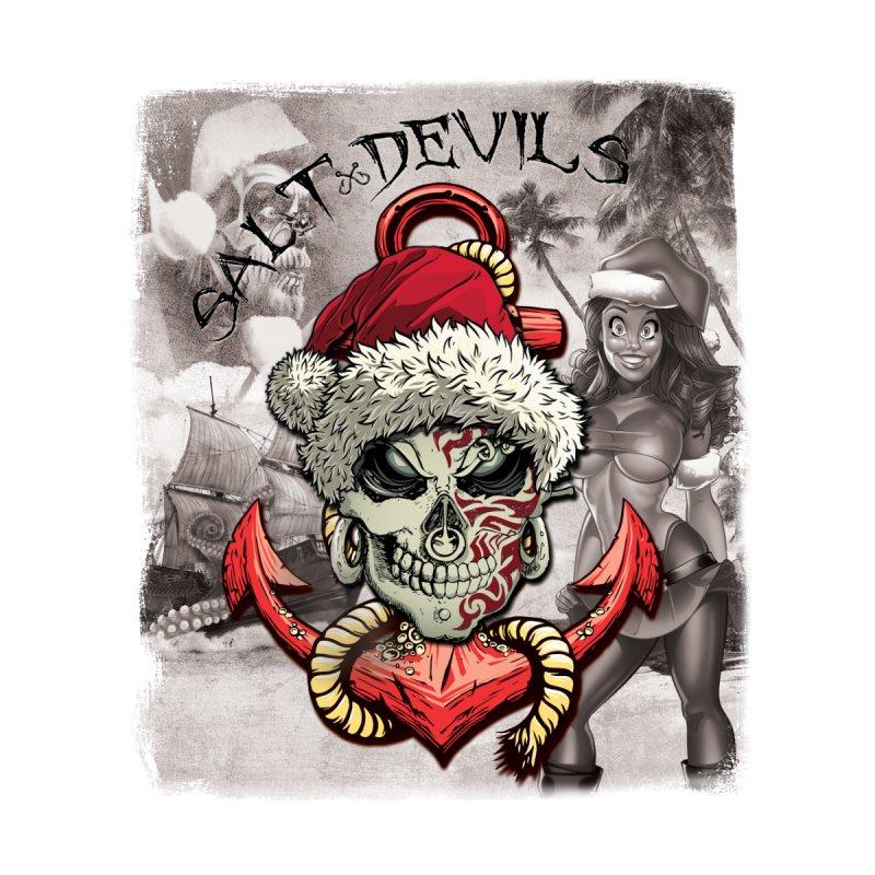 Salt Devils - Christmas Skull Anchor Women's T-Shirt by Salt Devils