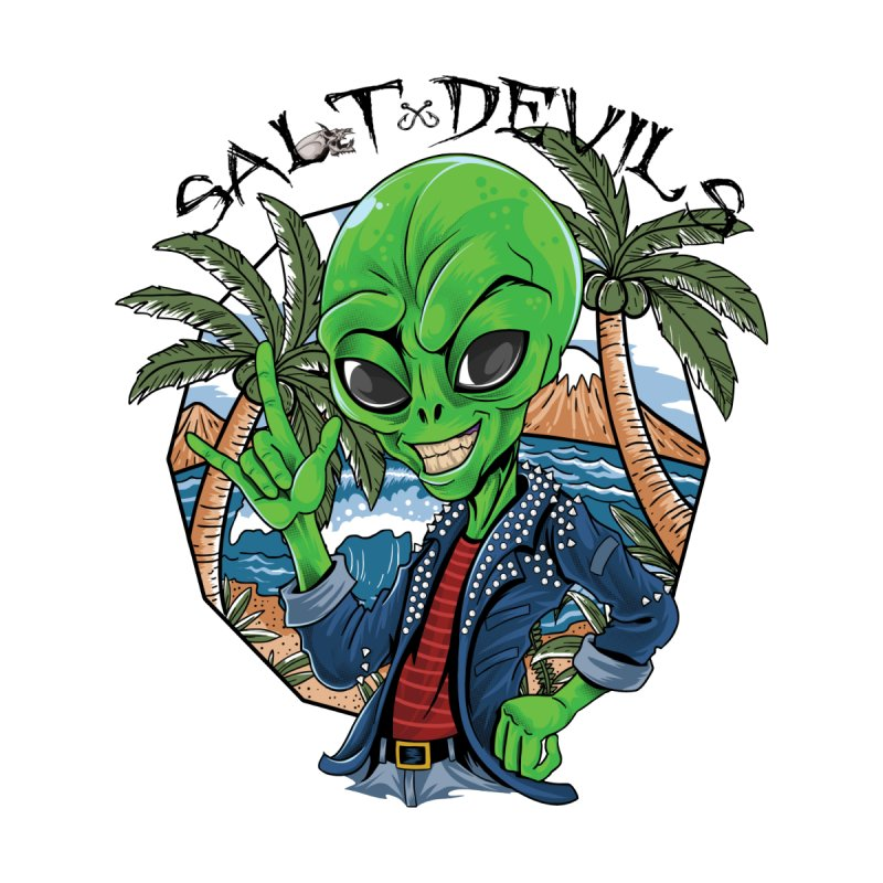 Salt Devils - Alien Vacation Women's V-Neck by Salt Devils