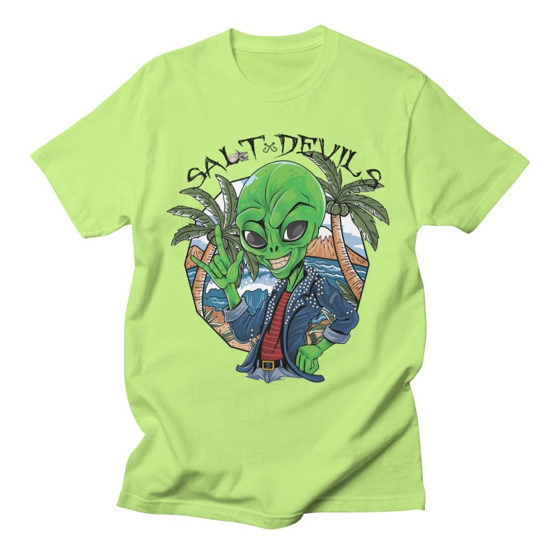 Salt Devils - Alien Vacation Men's T-Shirt by Salt Devils