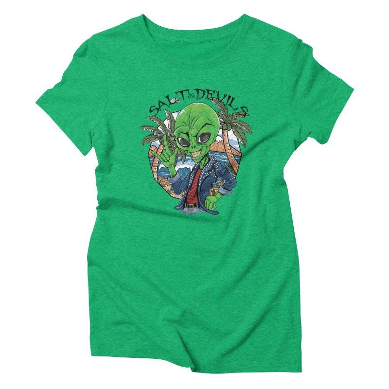 Salt Devils - Alien Vacation Women's T-Shirt by Salt Devils