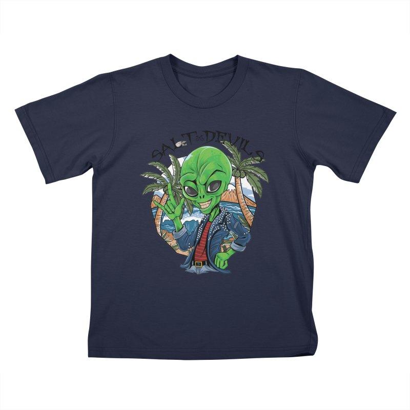 Salt Devils - Alien Vacation Kids T-Shirt by Salt Devils