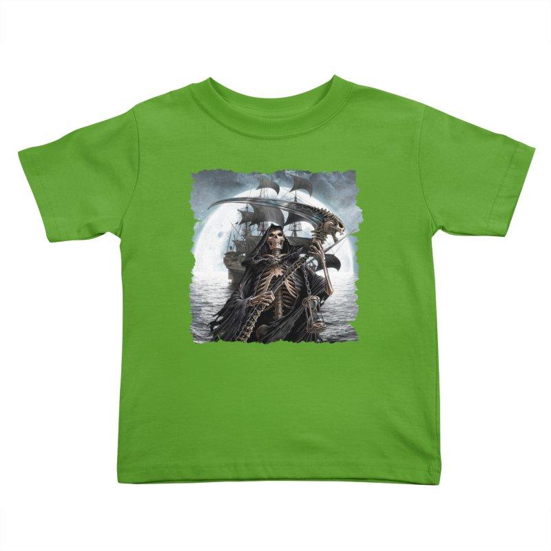 Salt Devils - The Reaper Kids Toddler T-Shirt by Salt Devils