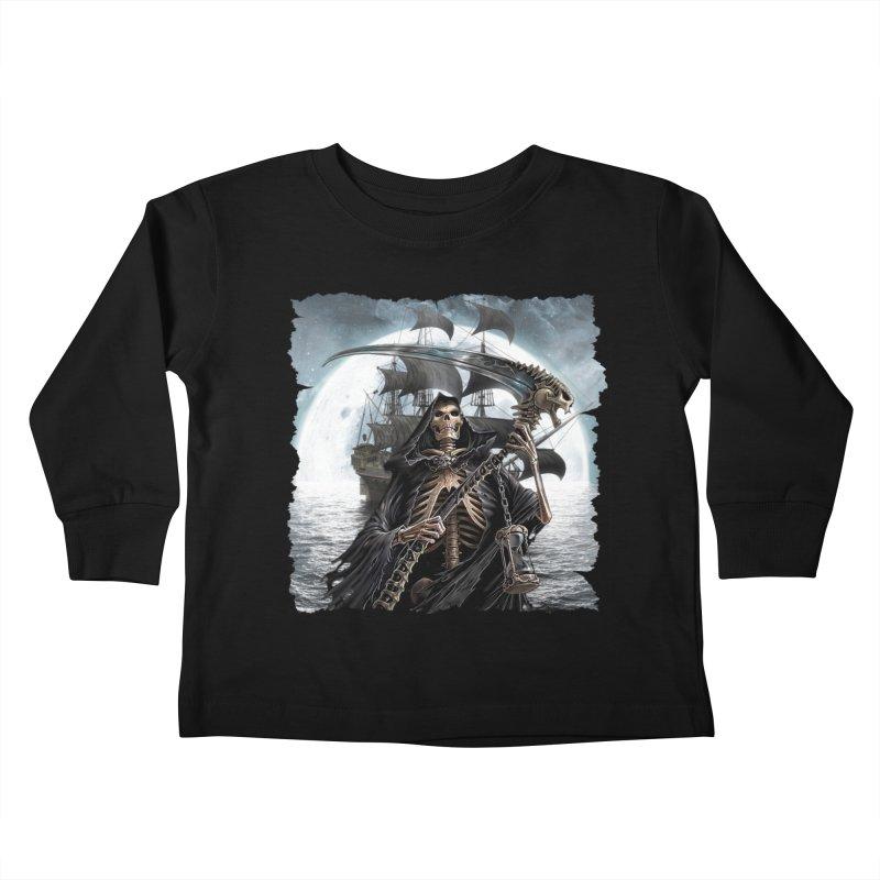 Salt Devils - The Reaper Kids Toddler Longsleeve T-Shirt by Salt Devils