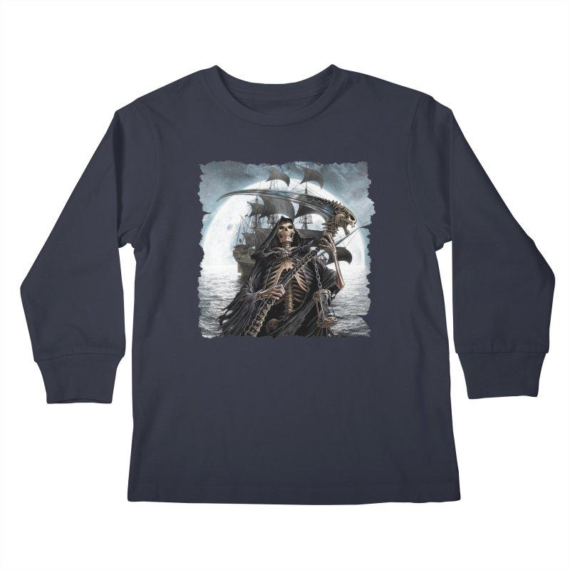 Salt Devils - The Reaper Kids Longsleeve T-Shirt by Salt Devils