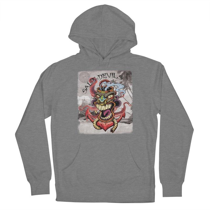 Salt Devils - Tiki Kraken Anchor Women's Pullover Hoody by Salt Devils