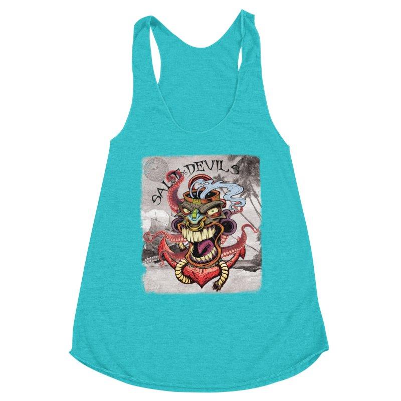 Salt Devils - Tiki Kraken Anchor Women's Tank by Salt Devils