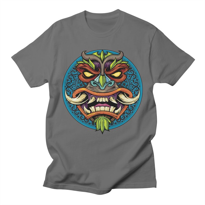 Salt Devils - Tiki Horn Men's T-Shirt by Salt Devils