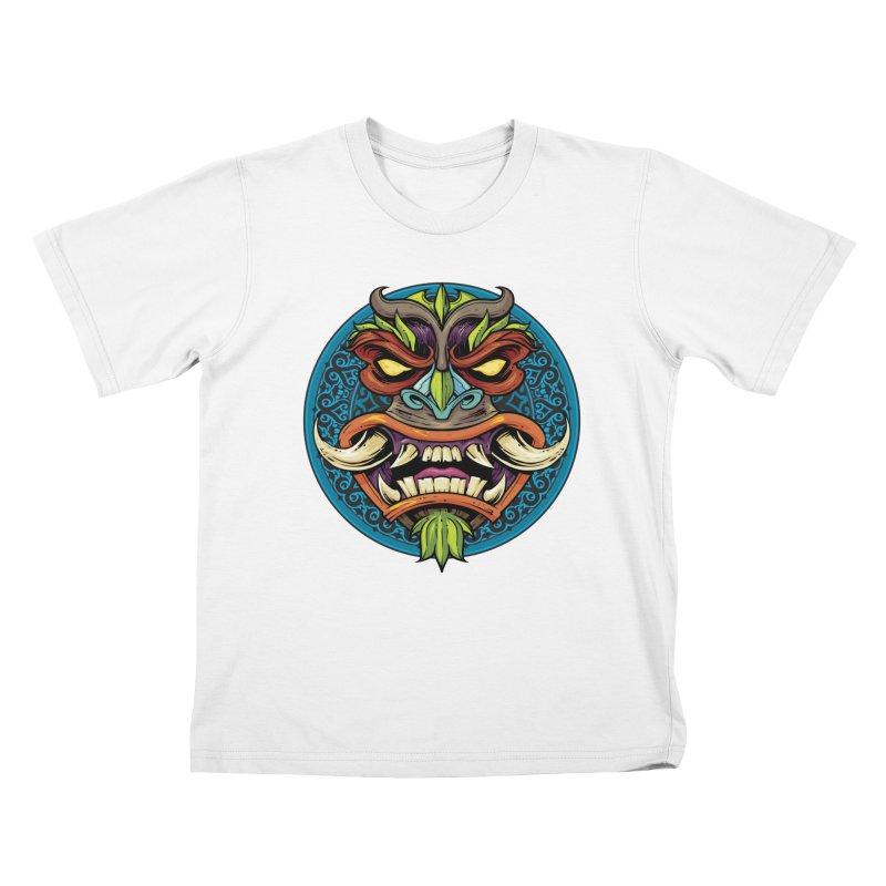 Salt Devils - Tiki Horn Kids T-Shirt by Salt Devils