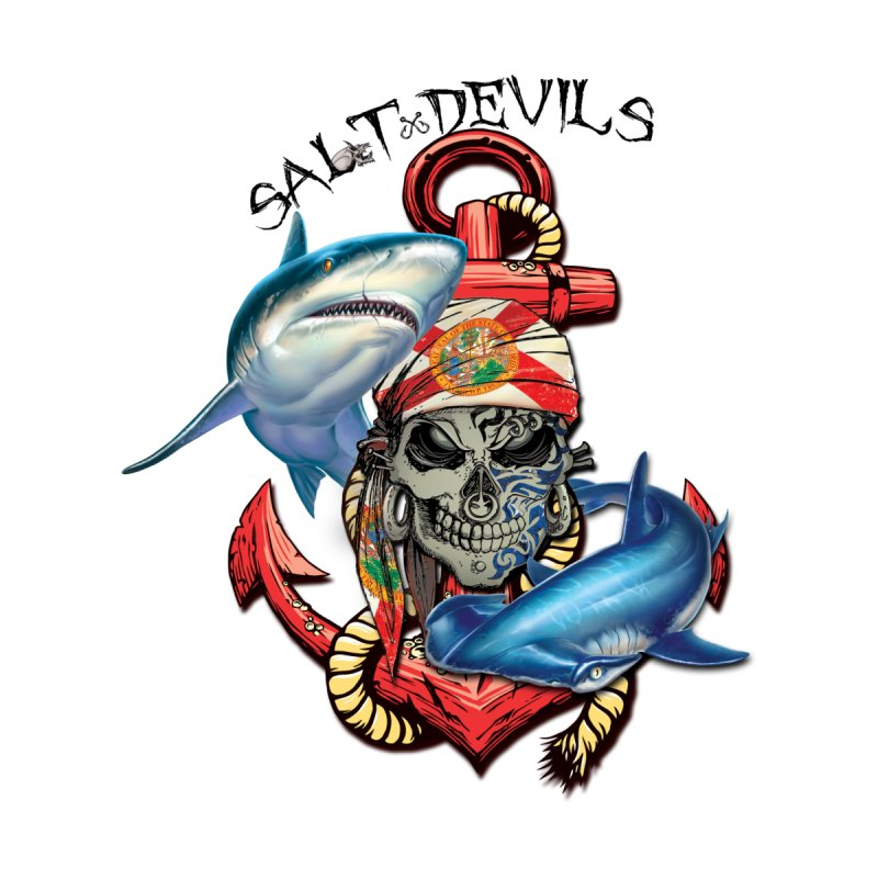 Salt Devils - Florida Shark Anchor Kids T-Shirt by Salt Devils