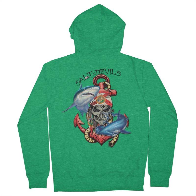 Salt Devils - Florida Shark Anchor Men's Zip-Up Hoody by Salt Devils