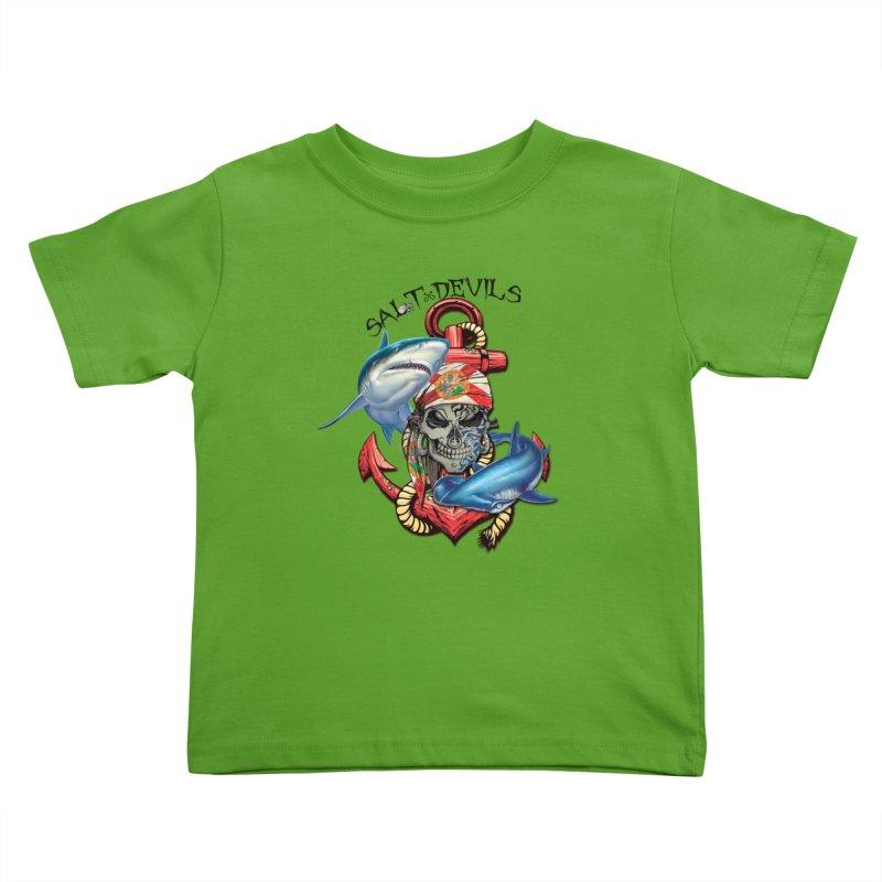 Salt Devils - Florida Shark Anchor Kids Toddler T-Shirt by Salt Devils