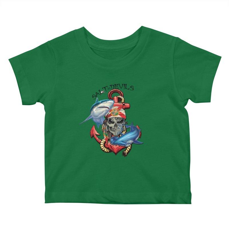 Salt Devils - Florida Shark Anchor Kids Baby T-Shirt by Salt Devils