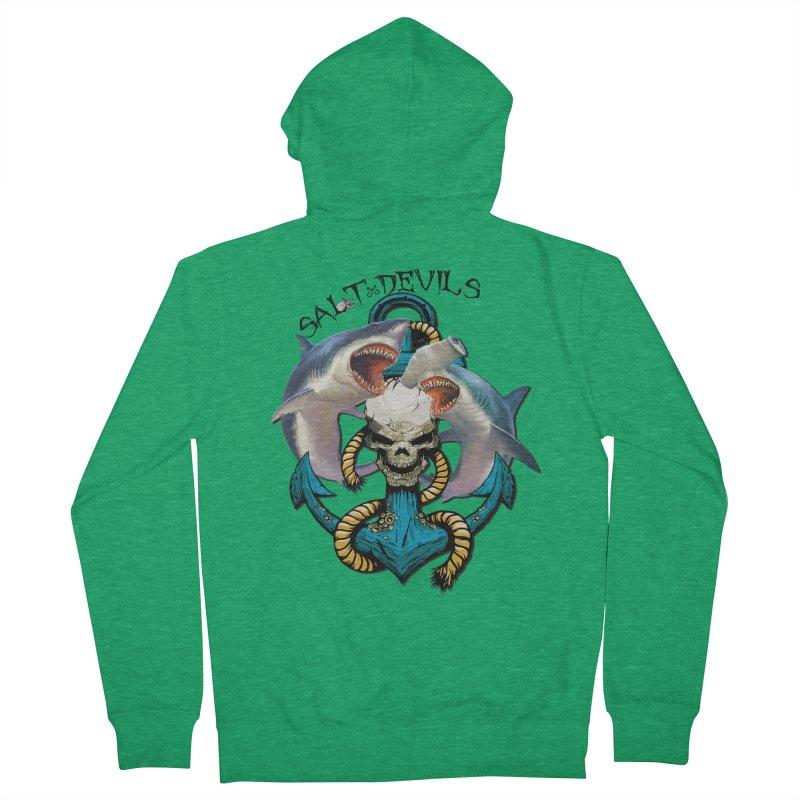 Salt Devils - Shark Anchor Men's Zip-Up Hoody by Salt Devils
