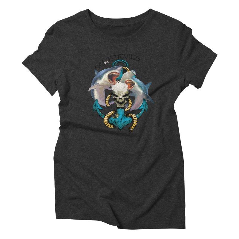 Salt Devils - Shark Anchor Women's T-Shirt by Salt Devils