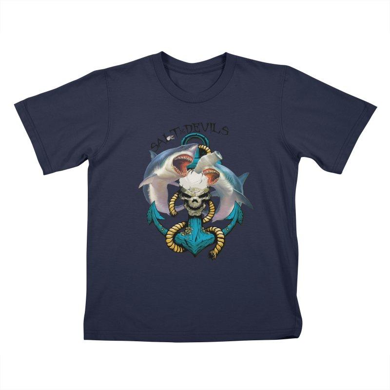 Salt Devils - Shark Anchor Kids T-Shirt by Salt Devils