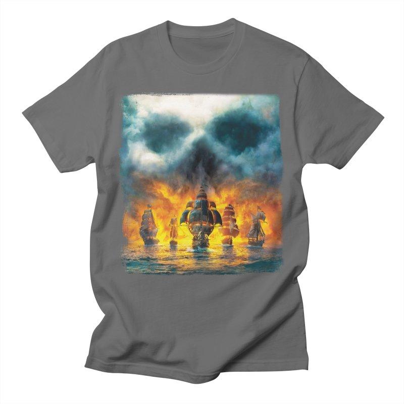 Salt Devils - Ghost Ship Men's T-Shirt by Salt Devils