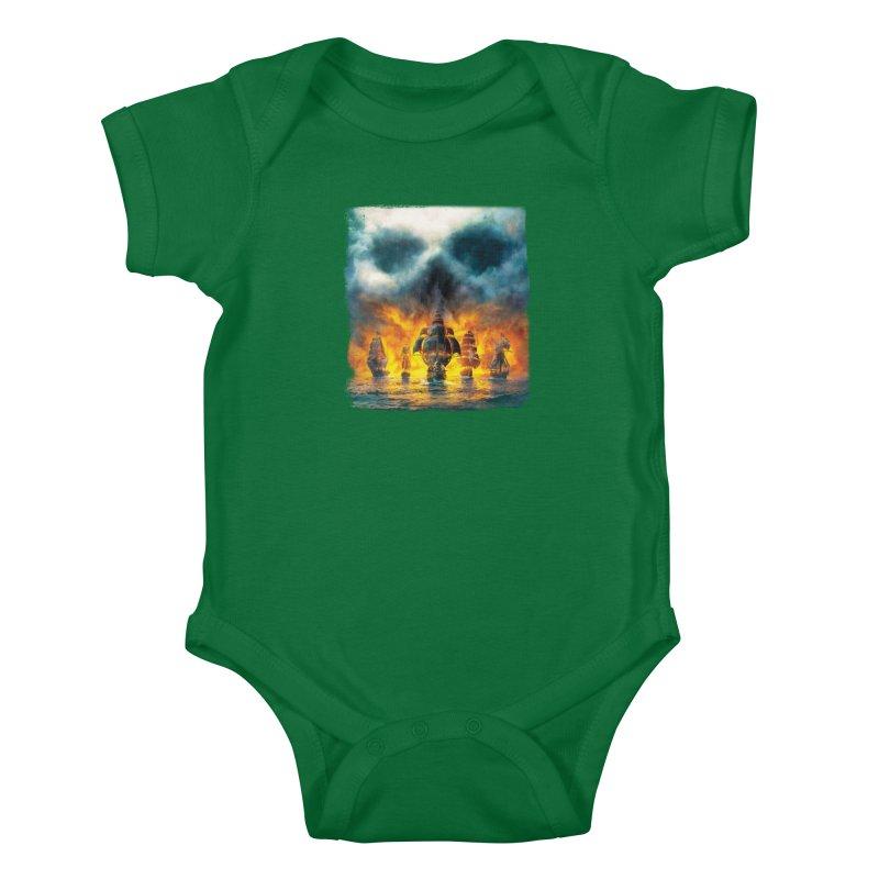 Salt Devils - Ghost Ship Kids Baby Bodysuit by Salt Devils