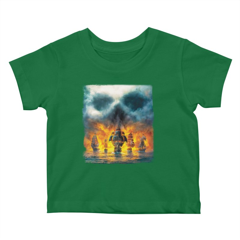 Salt Devils - Ghost Ship Kids Baby T-Shirt by Salt Devils