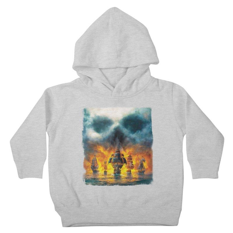 Salt Devils - Ghost Ship Kids Toddler Pullover Hoody by Salt Devils