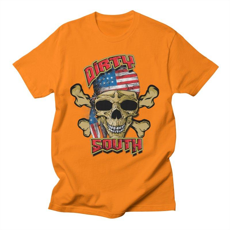 Salt Devils - Dirty South American Skull Men's T-Shirt by Salt Devils