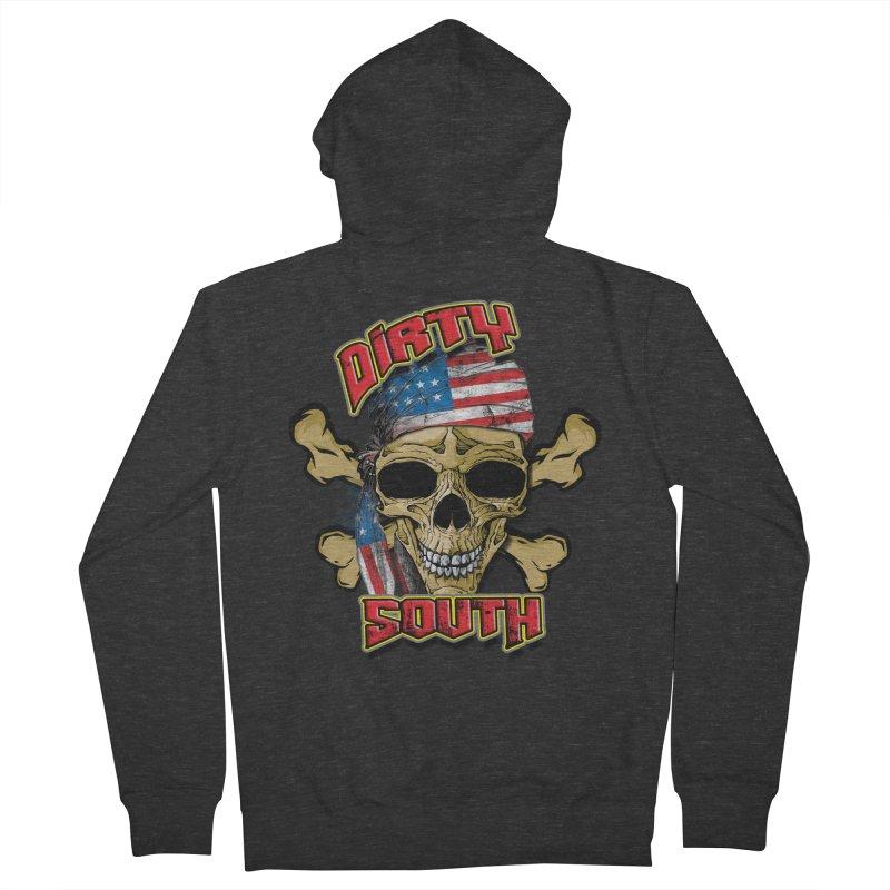 Salt Devils - Dirty South American Skull Men's Zip-Up Hoody by Salt Devils