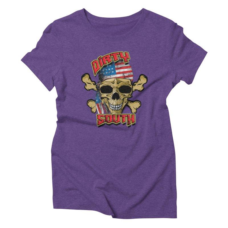 Salt Devils - Dirty South American Skull Women's T-Shirt by Salt Devils