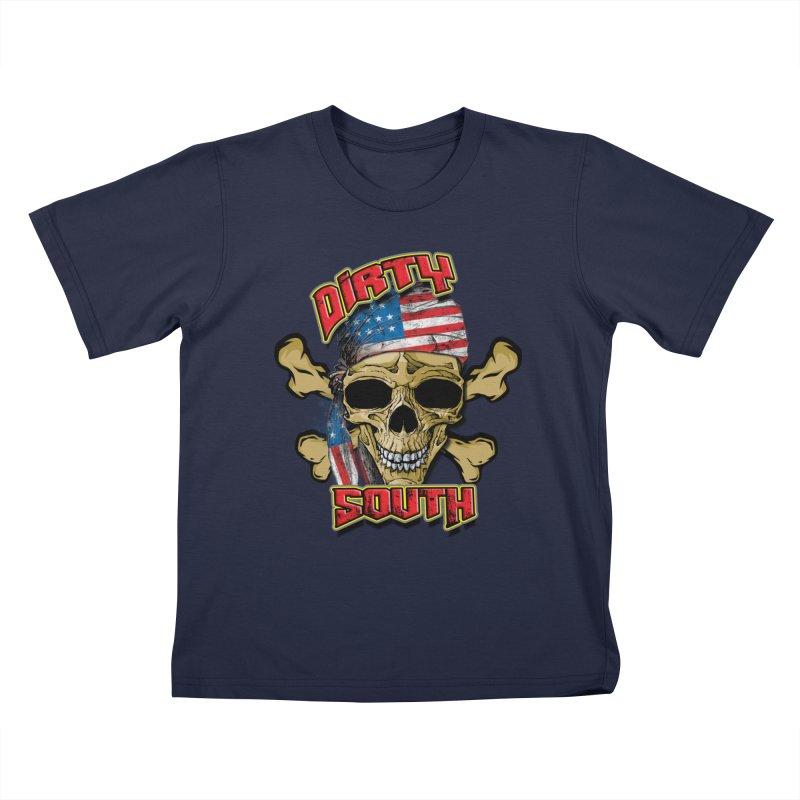 Salt Devils - Dirty South American Skull Kids T-Shirt by Salt Devils