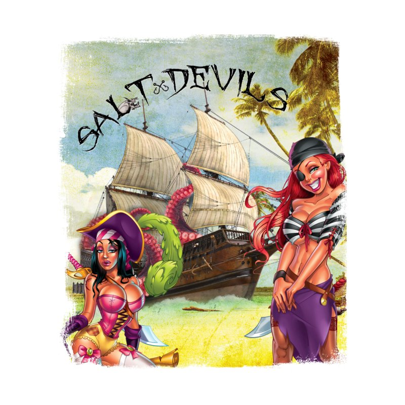 Salt Devils - Kraken Wench Kids T-Shirt by Salt Devils