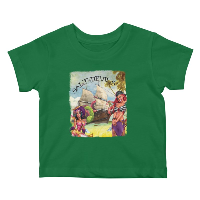 Salt Devils - Kraken Wench Kids Baby T-Shirt by Salt Devils