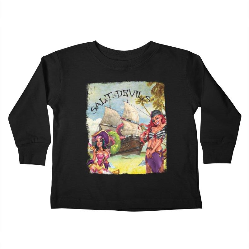 Salt Devils - Kraken Wench Kids Toddler Longsleeve T-Shirt by Salt Devils
