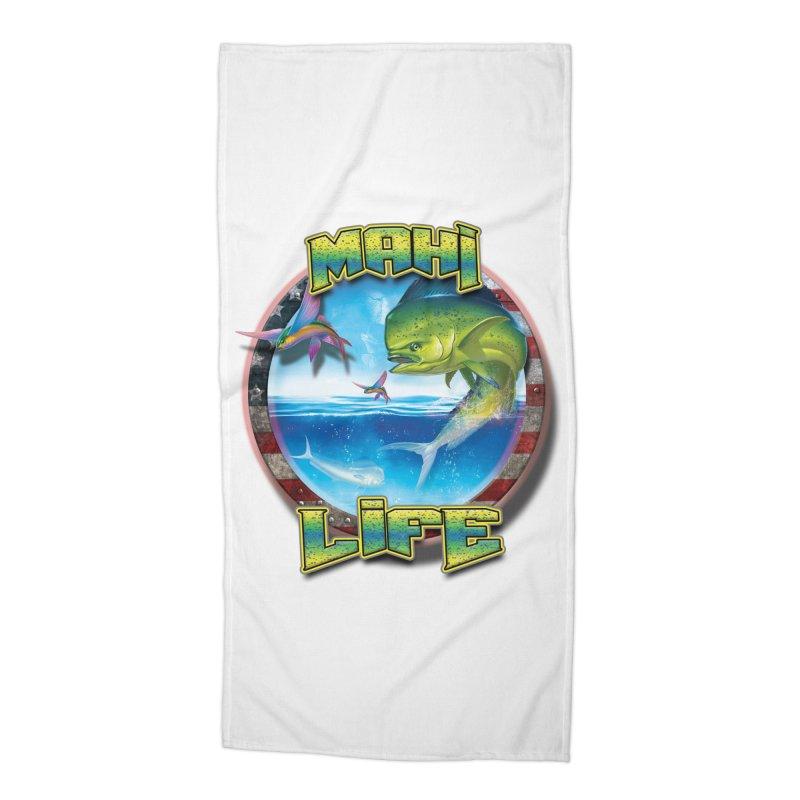 Salt Devils - Mahi Life Accessories Beach Towel by Salt Devils