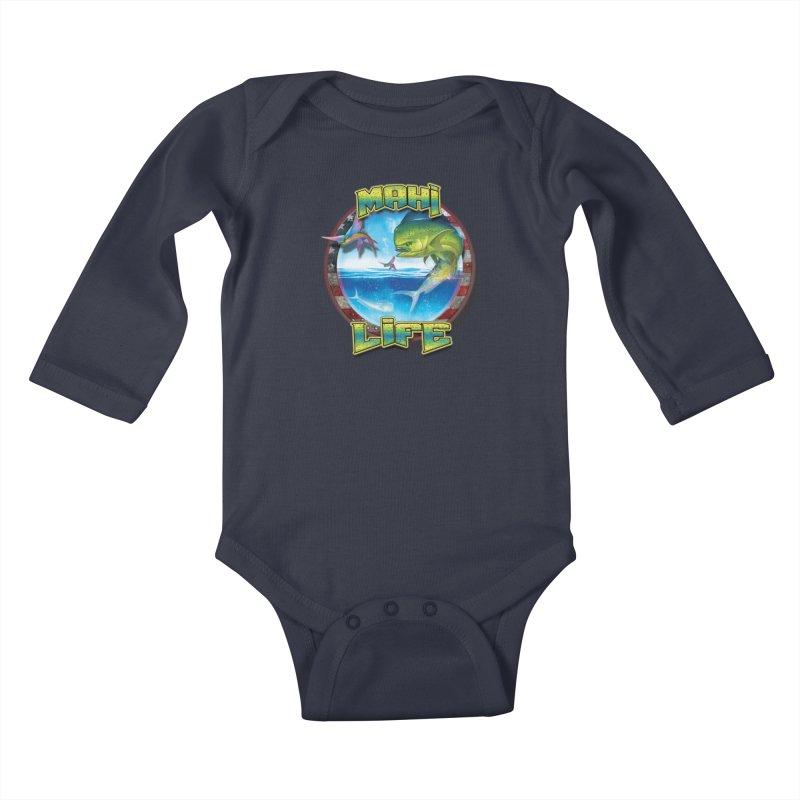Salt Devils - Mahi Life Kids Baby Longsleeve Bodysuit by Salt Devils