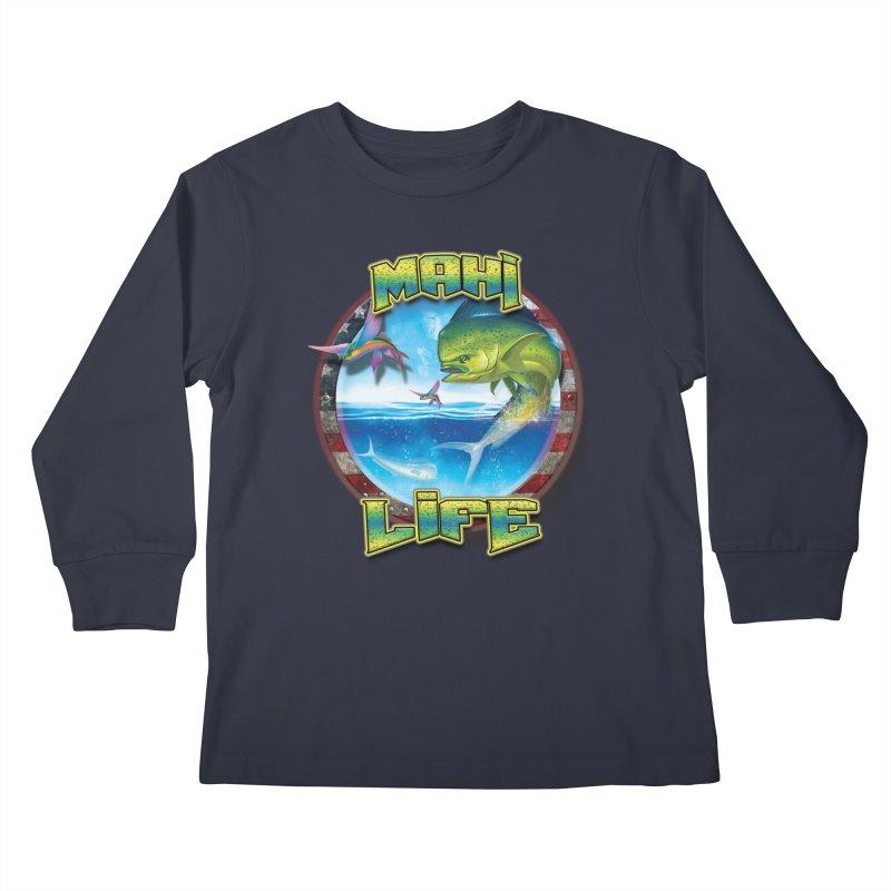 Salt Devils - Mahi Life Kids Longsleeve T-Shirt by Salt Devils