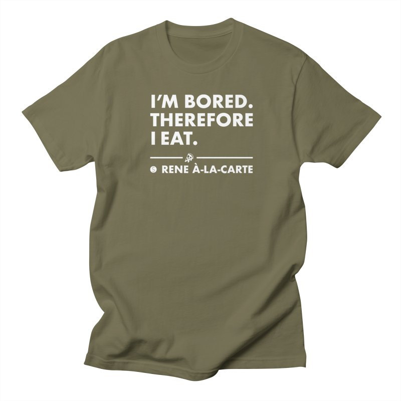 I'm Bored. Therefore I Eat (Darks) Men's T-Shirt by Salty Shirts